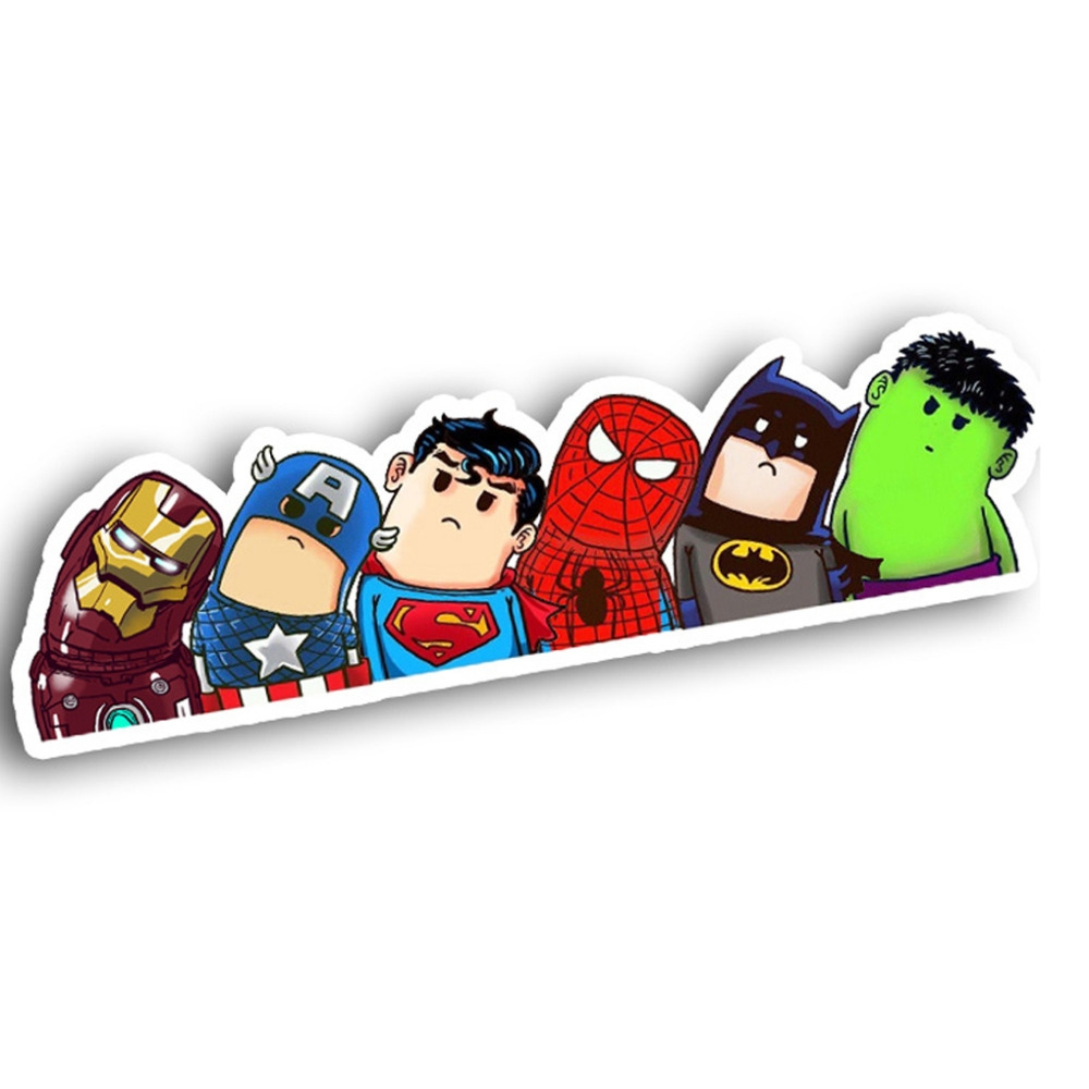 Bydlení a domácnost - Nálepka na sklo auta - hrdinové z Avengers