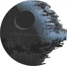 Bydlení a domácnost - Samolepka na zeď - Star Wars - Hvězda smrti