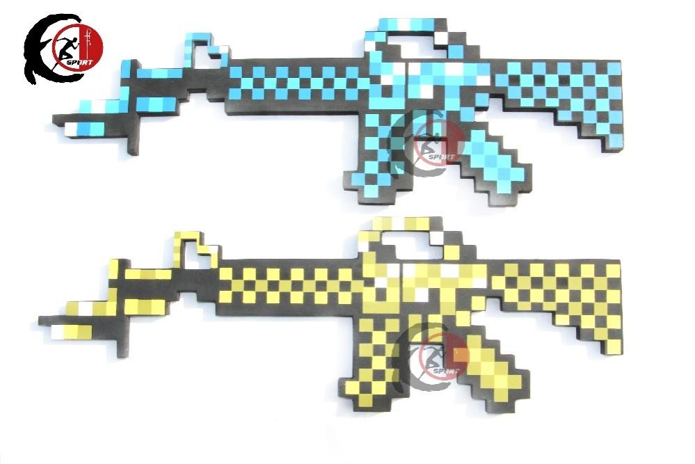 Minecraft puška s bodákem - modrá
