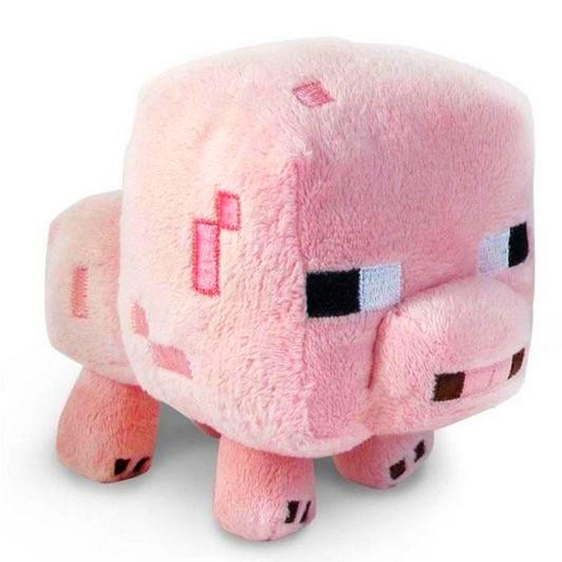 Hračky - Plyšák Minecraft růžové prasátko - 16 cm