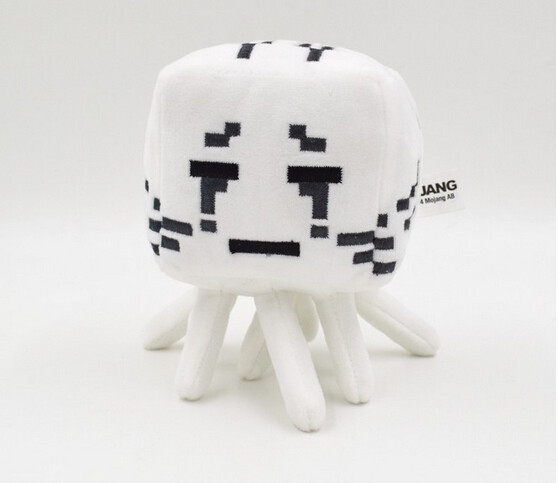 Hračky - Plyšák Minecraft Ghast - bílé oči - 16 cm