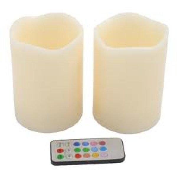 Svíčky na dálkové ovládání 2ks