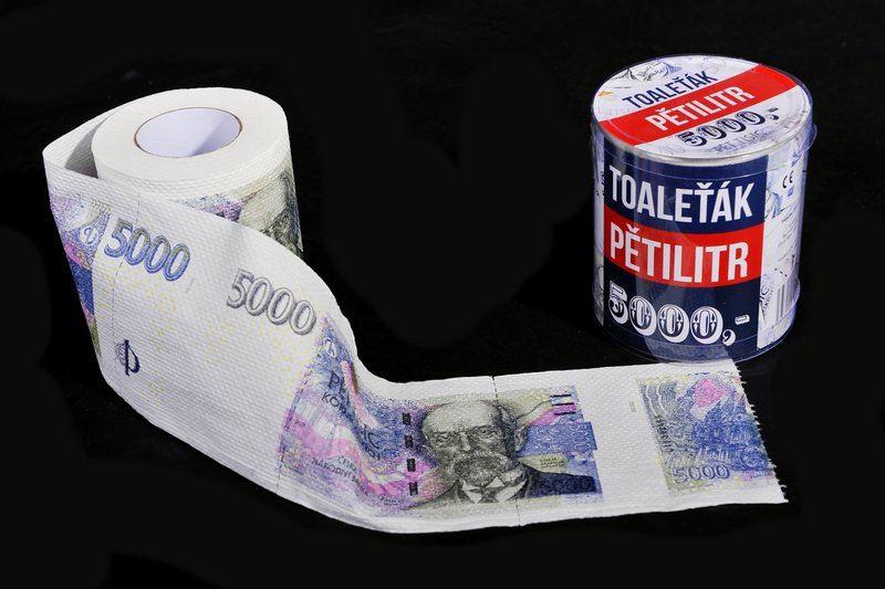 Toaletní papír pětitisícovka