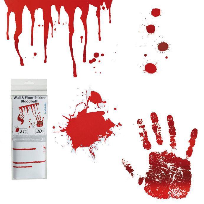 Bydlení a domácnost - Krvavé samolepky
