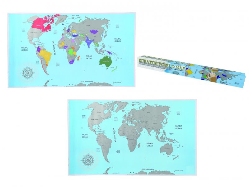 Stírací mapa světa - basic