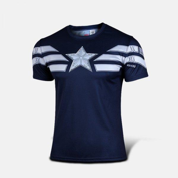 Oblečení a móda - Sportovní tričko - Captain America WINTER SOLDIER - modrá