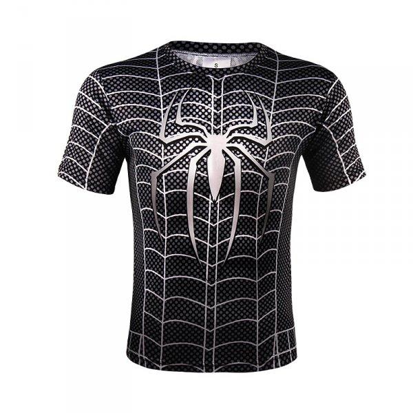 Oblečení a móda - Sportovní tričko - Spiderman SYMBIOTE - černá