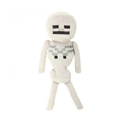 Hračky - Plyšák Minecraft skeleton bílý - 24 cm