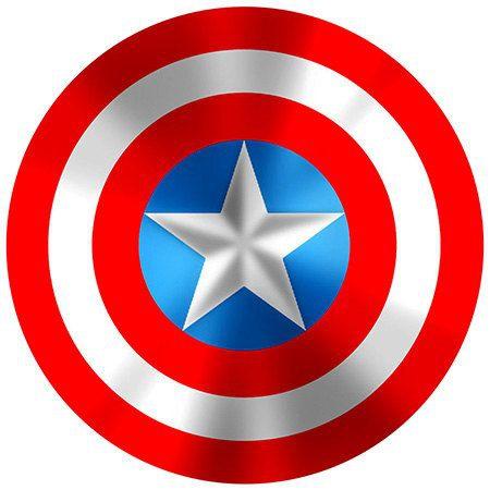 Nálepka na auto štít Kapitán Amerika