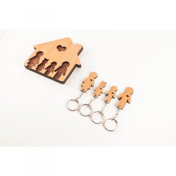 Bydlení a domácnost - Domeček na klíče - Rodinka (4 osoby)