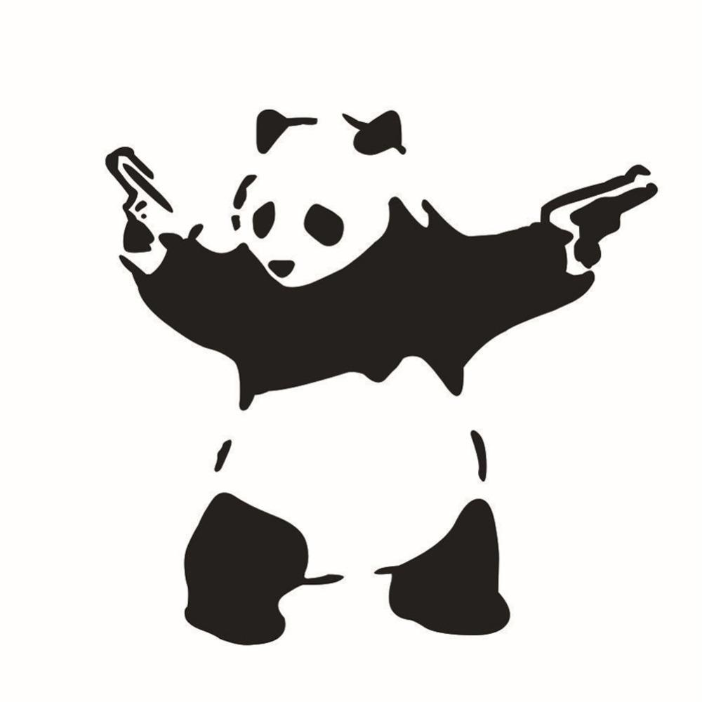 N 225 Lepka Na Auto Gangsta Panda S Pistol 237 Geek Planet