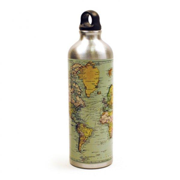 Bydlení a domácnost - Láhev na vodu s mapou světa