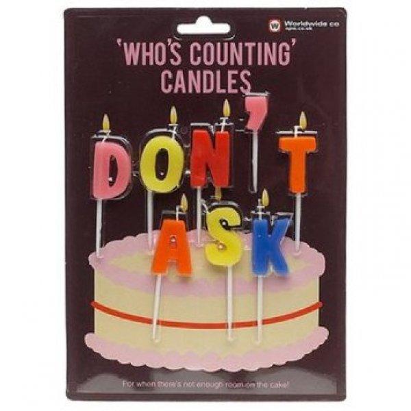 Bydlení a domácnost - Narozeninové svíčky na dort - Don't ask