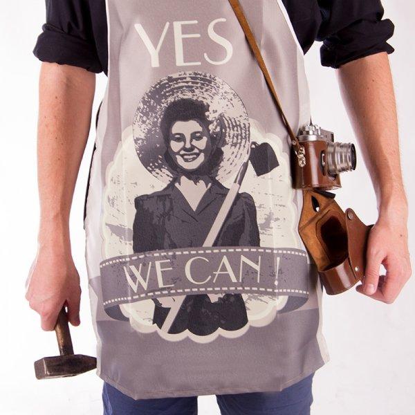 Vtipná kuchyňská zástěra Yes We Can