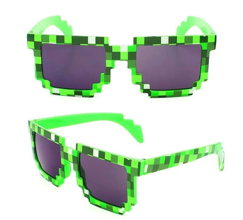 Sluneční brýle minecraft brýle (Modré)