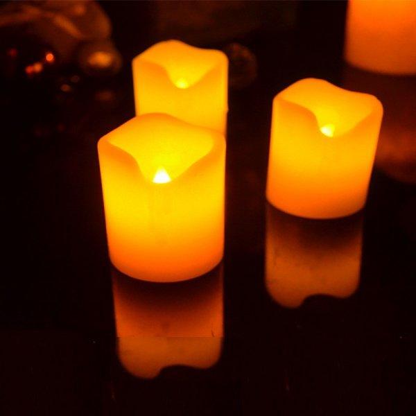 Bydlení a domácnost - Elektrické svíčky z pravého vosku 3ks