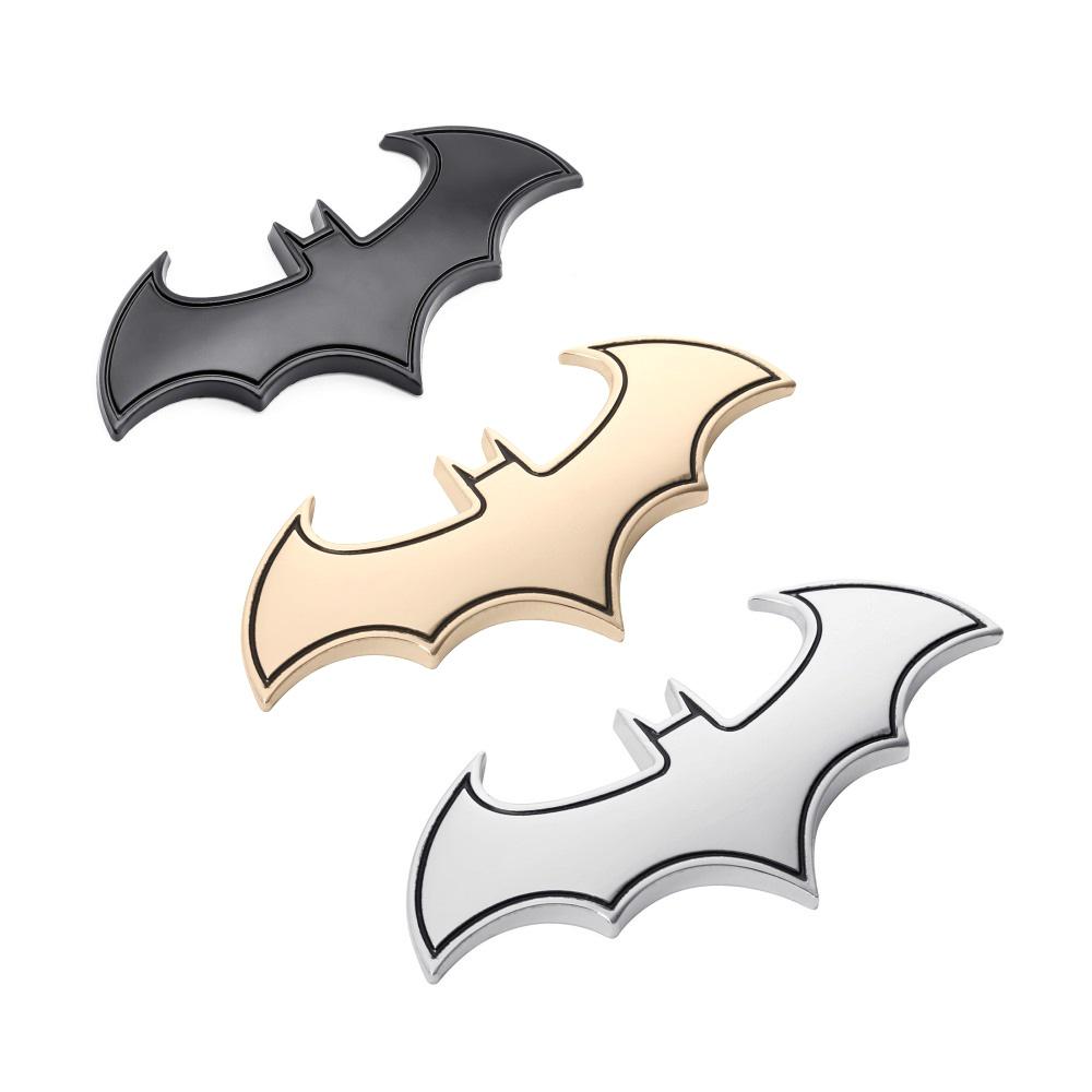 Nálepka na auto - kovový 3D znak Batman  (Zlatá)