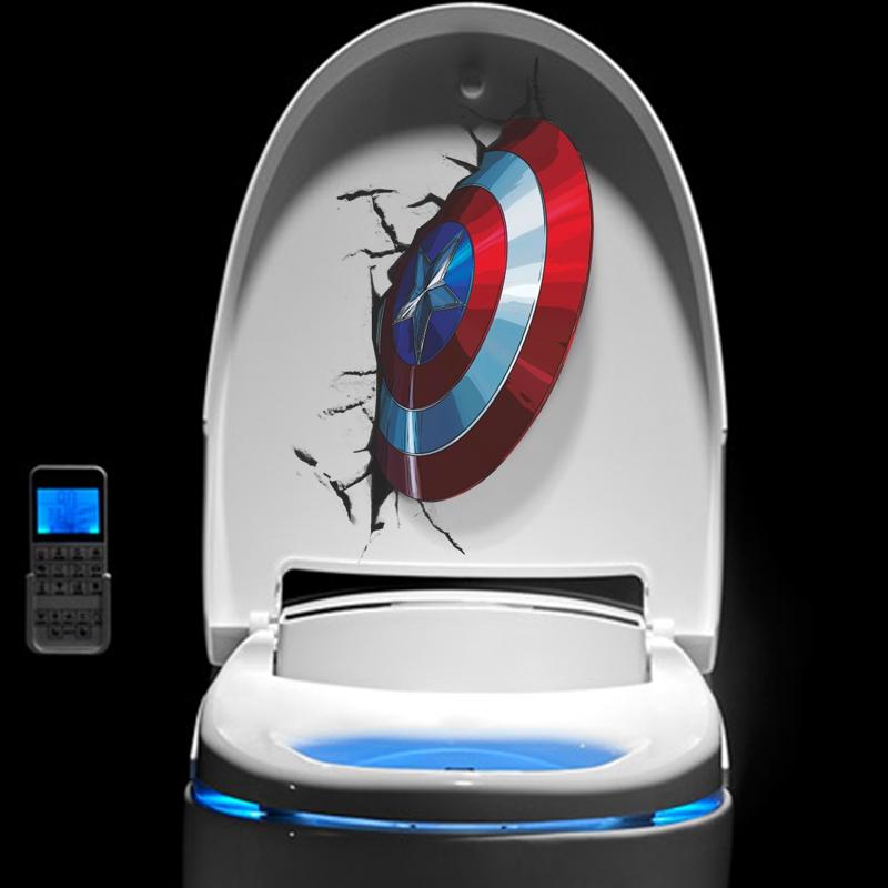 Bydlení a domácnost - Samolepka - zaseknutý štít Captain America