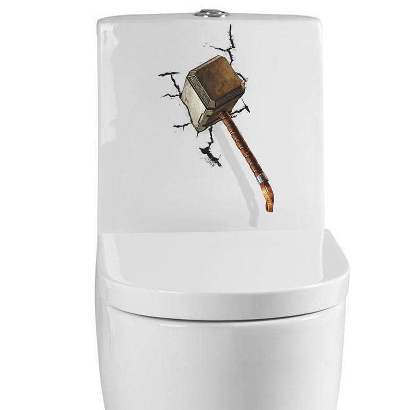 Bydlení a domácnost - Samolepka - zaseknuté Thorovo kladivo