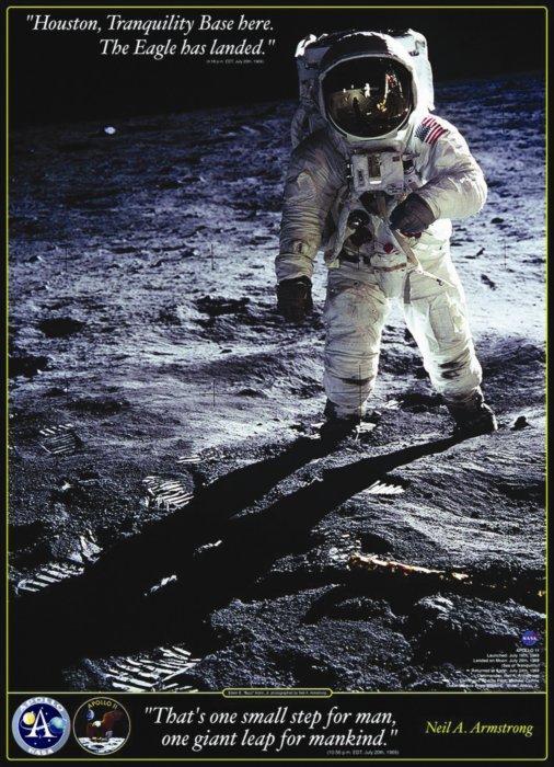 Hračky - EUROGRAPHICS Puzzle Neil A. Armstrong: První kroky na Měsíci 1000 dílků