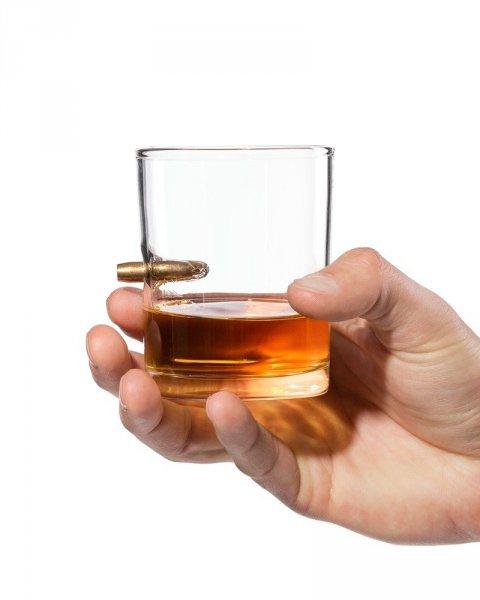Bydlení a domácnost - Originální sklenička – neprůstřelné sklo