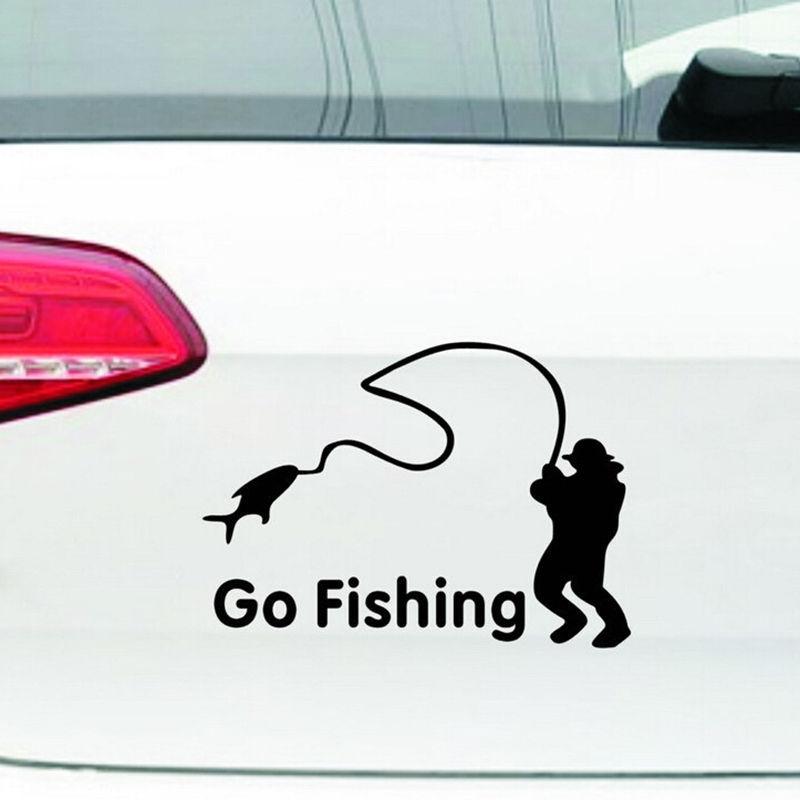 Bydlení a domácnost - Nálepka na auto - Go Fishing