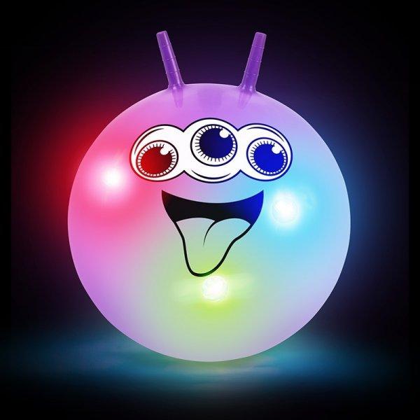 Hračky - Skákací míč se smajlíkem – svítící