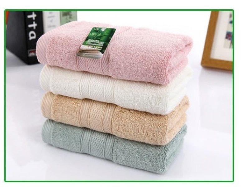 Bambusový ručník - 34 x 75 cm - 1ks (Růžový)
