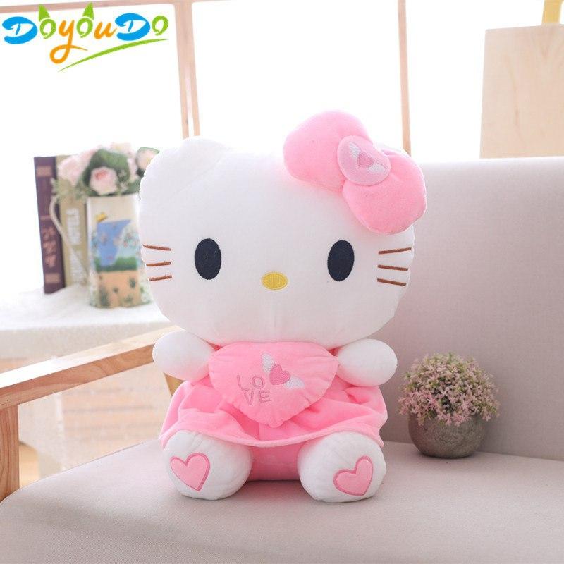 Plyšák Hello Kitty - 30 cm - Červená
