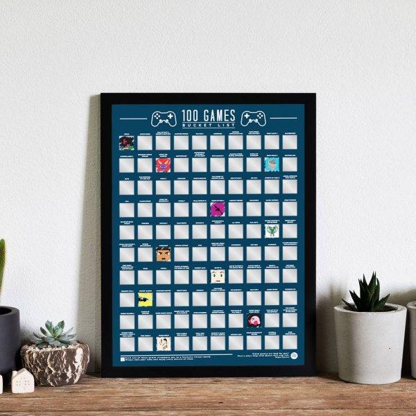 Hračky - Stírací plakát 100 nejlepších her - Bucket list