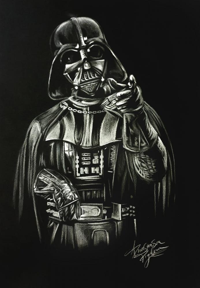 Bydlení a domácnost - Obraz na černém papíru - Darth Vader