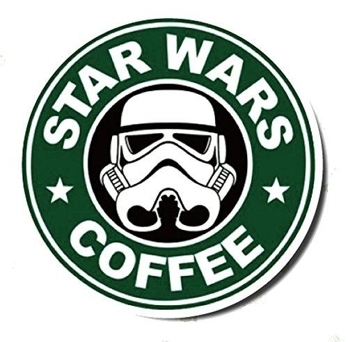 Nálepka na auto - Star Wars coffea