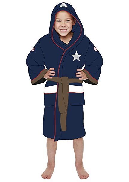 Dětský župan - Kapitán Amerika (univerzální pro děti 7-9 let)
