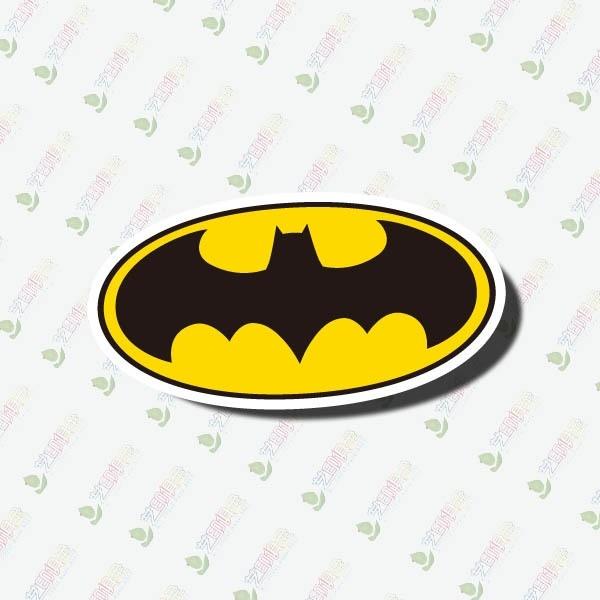 Nálepka - znak Batman - žluto-černá