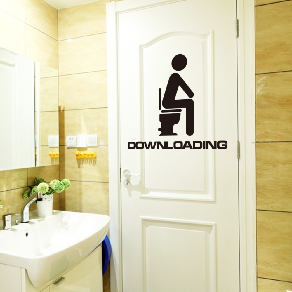 Samolepka na zeď - Downloading na záchodě