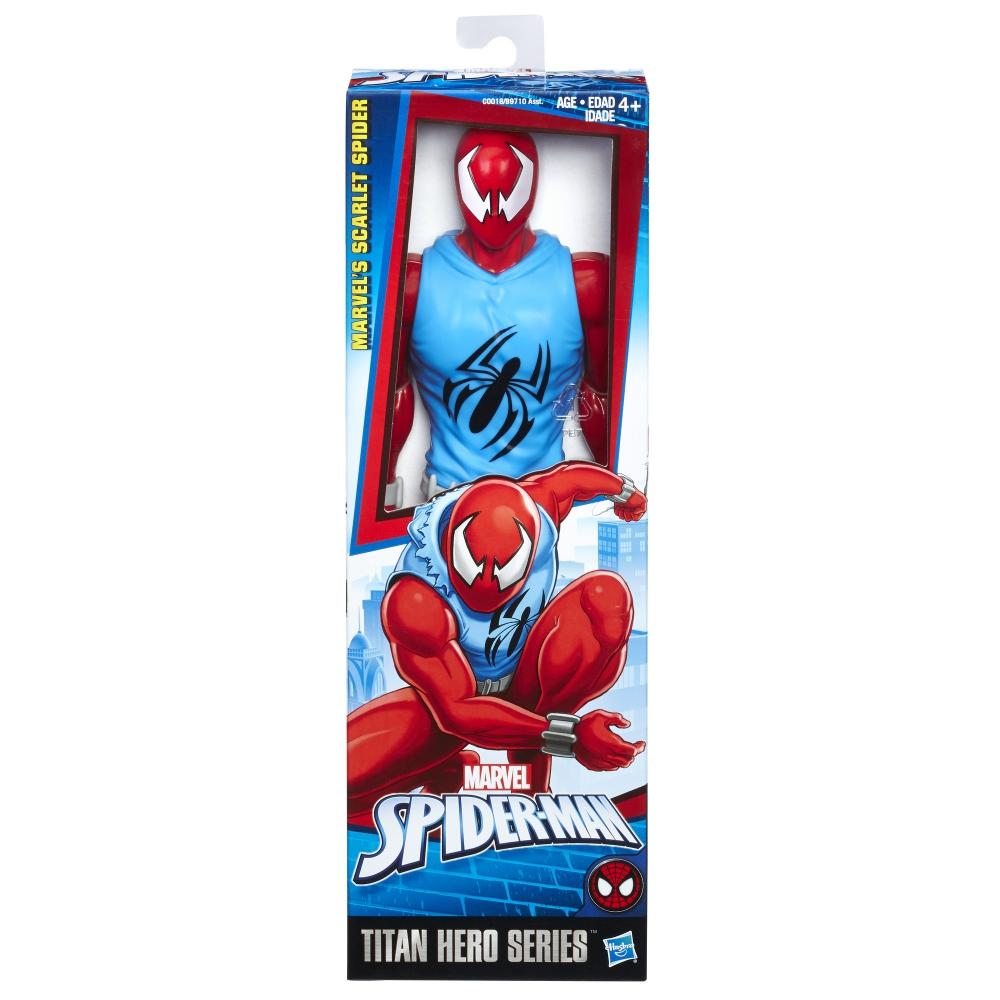 Akční figurka Spiderman Titan - Scarlet Spiderman - 30 cm