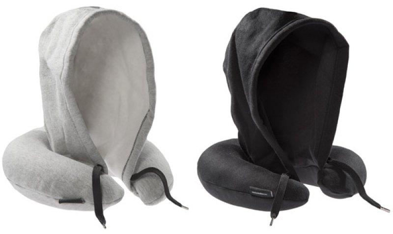 Cestovní polštář s kapucí (Černý)