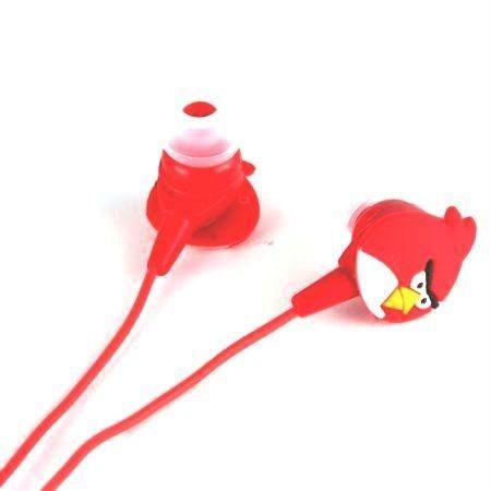 Sluchátka do uší - Angry birds - červená