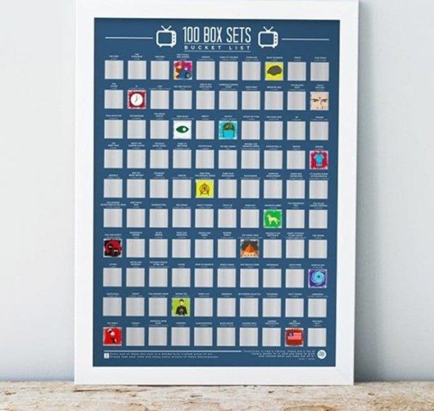 Stírací plakát 100 televizních sérií - Bucket list