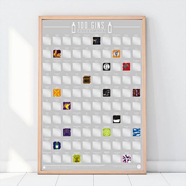 Hračky - Stírací plakát - 100 ginů - objevujte neobjevené