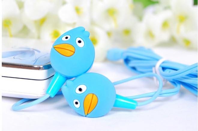 Sluchátka do uší - Angry birds - modrá