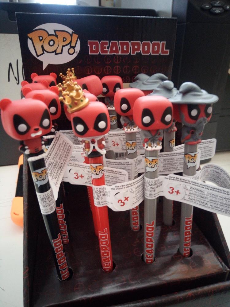 Funko Pop! Pen Toppers - Deadpool - Wizard, King, Pandapool & Bedtime