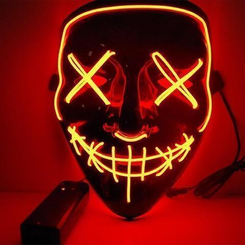 Maska se světelným efektem - The Purge (Fialová)
