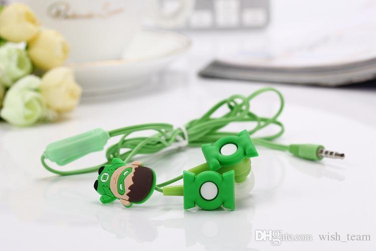 Elektronika - Sluchátka do uší - Green Lantern s krabičkou - zelená