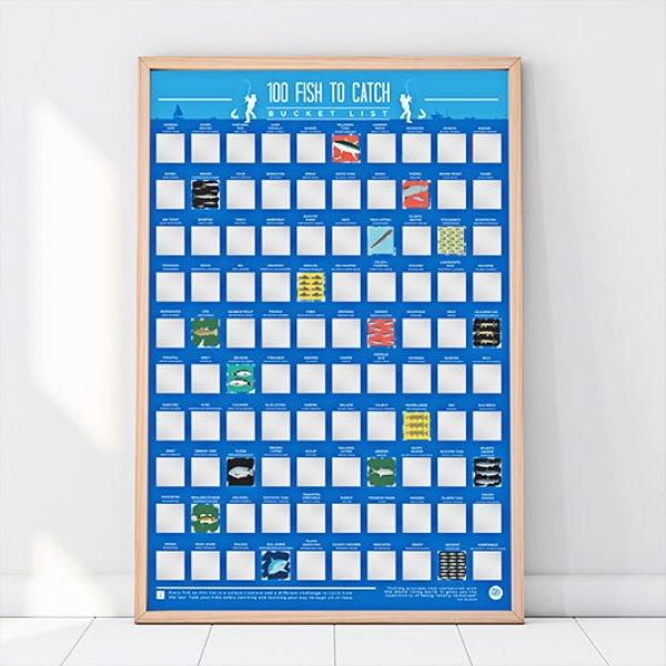 Hračky - Stírací plakát - 100 ryb k chycení