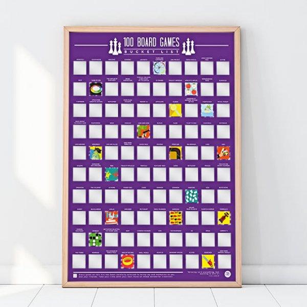 Hračky - Stírací plakát - 100 nejlepších stolních her