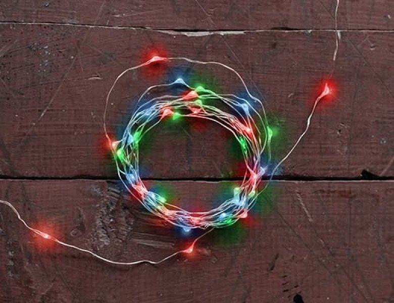 Bydlení a domácnost - Světelný řetěz - barevný