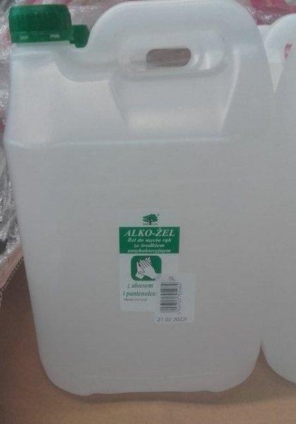 Bezoplachový dezinfekční gel na ruce s Aloe Vera - kanystr 5 litrů