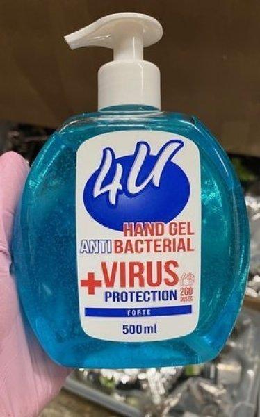 Dezinfekční gel na ruce s 60% alkoholem v dávkovači - 500 ml