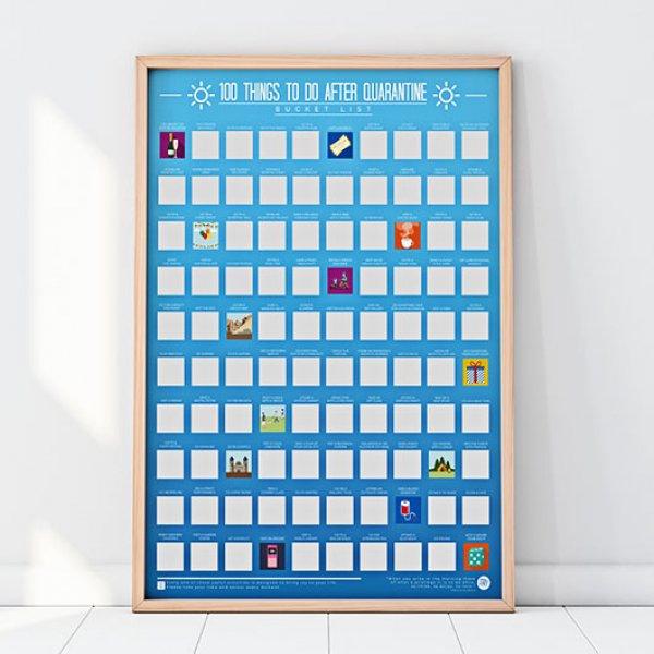 Hračky - Stírací plakát - 100 věcí, které dělat po karanténě